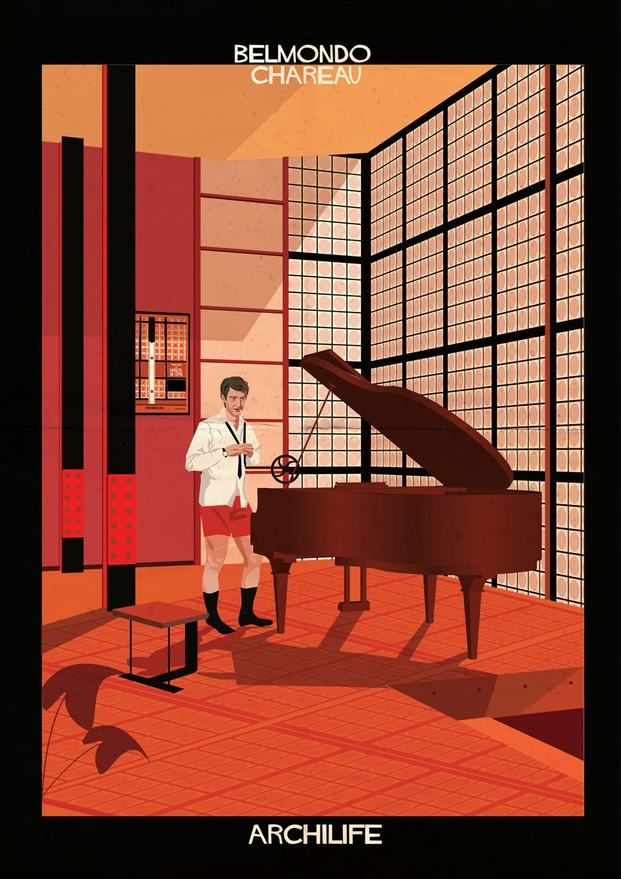 Belmondo Chareau ilustraciones de Federico Babina archilife diariodesign