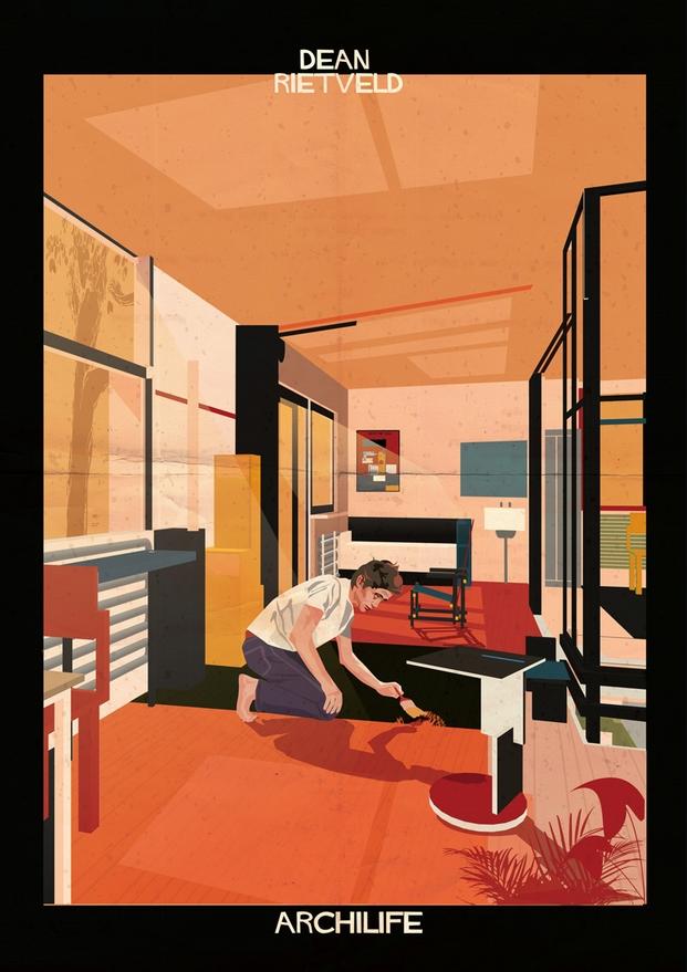 Dean Rietveld ilustraciones Federico Babina archilife diariodesign