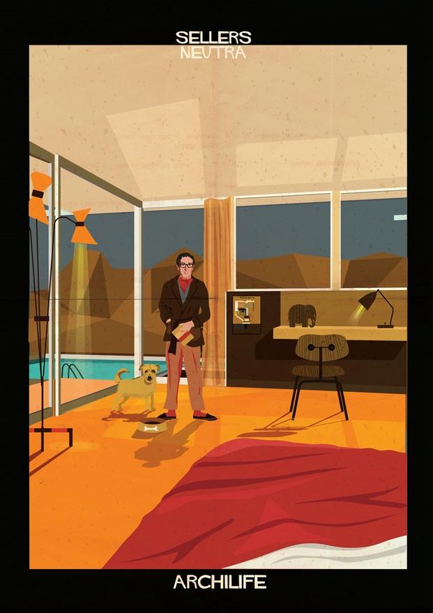 Sellers Neutra ilustraciones Federico Babina archilife