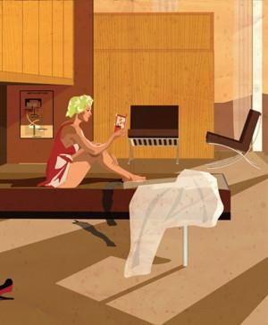 ilustraciones de federico babina hitchcock le corbusier