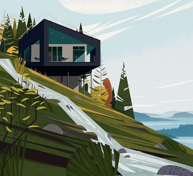 6 cabins taschen Todd Saunders, Salt Spring Island Cabin