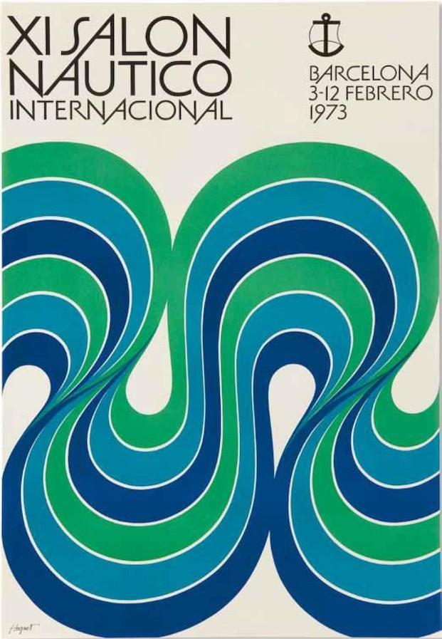 Cartel Salón Náutico, 1972 Enric Huguet