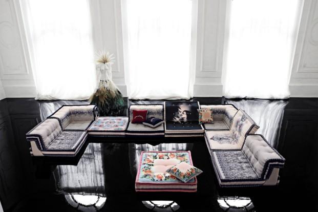 Sofá componible Mah Jong (diseñado por Hans Hopfer) versión Couture Jean Paul Gaultier