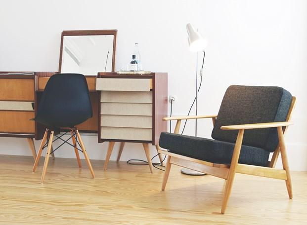 mobiliario del Bed & Brunch en Oporto hotel Rosa et Al diariodesign