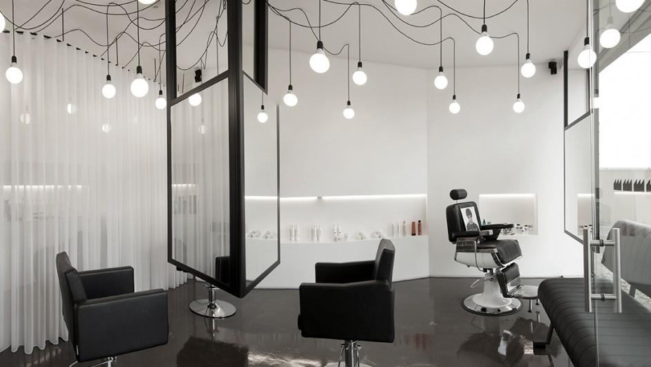 A f brica cabeleireiros sal n de belleza y peluquer a for Iluminacion para peluquerias