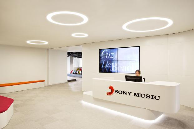 recepción oficinas de Sony Music