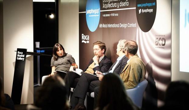 Acto con los miembros españoles del jurado de Jumpthegap en Roca Madrid Gallery