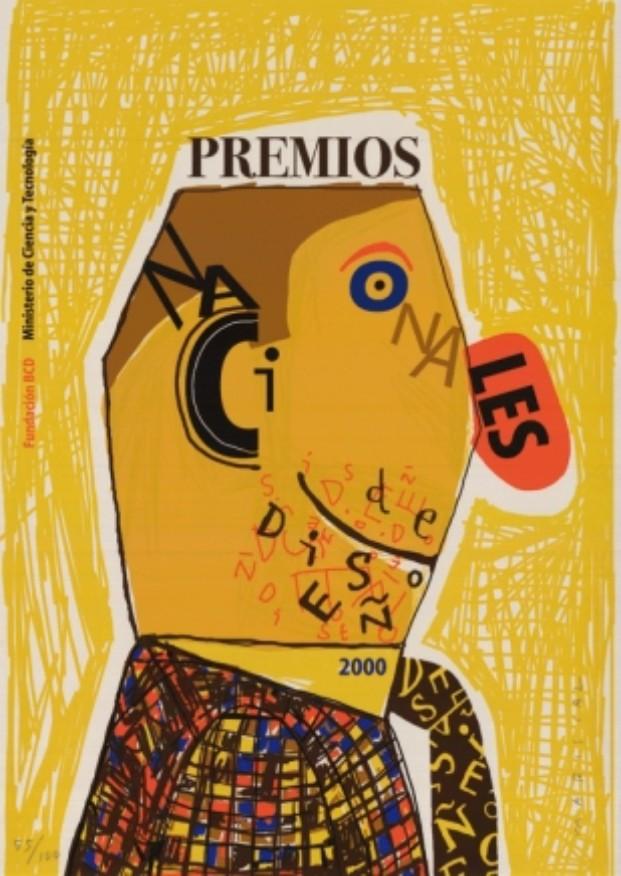 Cartel de los Premios en 2000, de Javier Mariscal