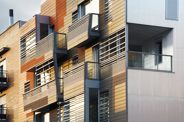 Edificio en Granollers de Manuel Bailo & Rosa Rull. Foto de José Hevia