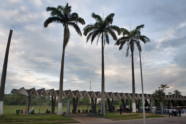 Estadio Kwame Nkrumah University of Science and Technology, Kumasi, Ghana. KNUST Development Office, 1964-1967. © Alexia Webster