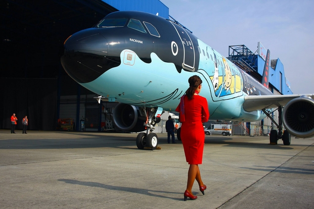 2 tintin brussels airlines