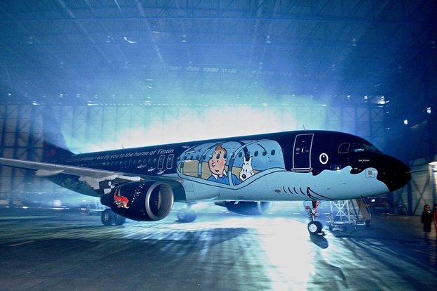 4 tintin brussels airlines