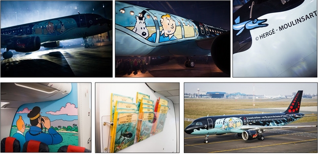 5 tintin brussels airlines