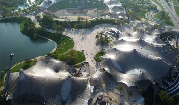 Cubierta del Munich Olympic Park para la Olimpiadas de 1972 en Munich