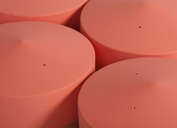 macetas voltasol base acabado rojo