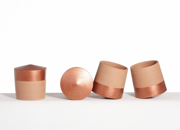 maceta voltasol en cobre diariodesign