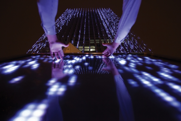 Affinity Interactive Art Installation - BCP Building, Peru; by Claudia Paz