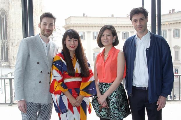 Ganadores Designers of the Future en la fiesta de presentación en Milán