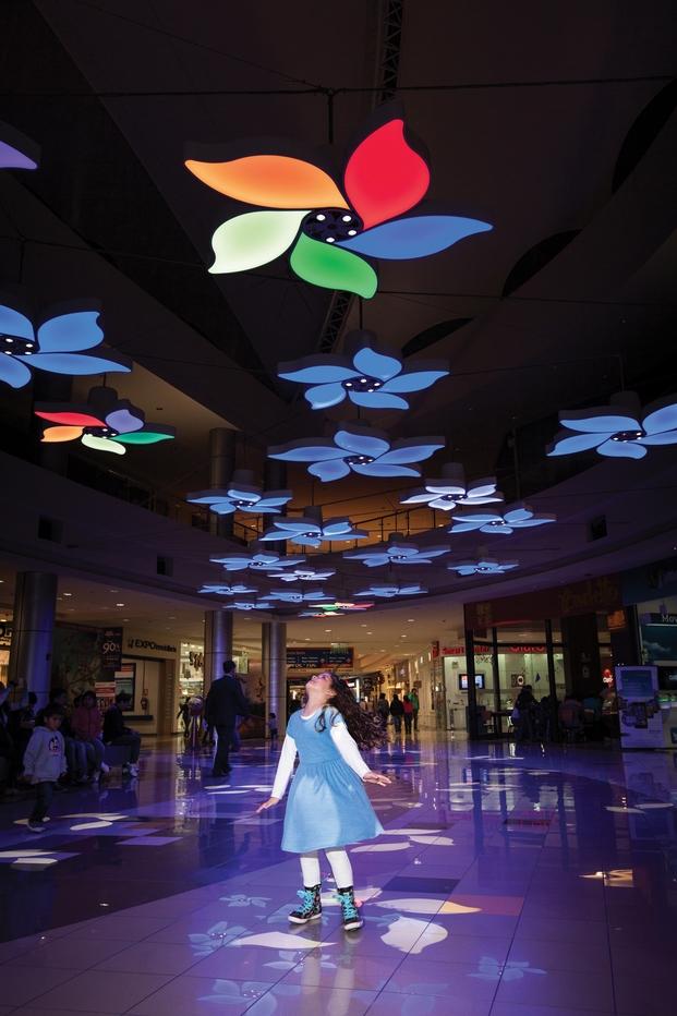 Light Garden (Interactive Installation in C.C. Plaza Norte), Peru; by Claudia Paz