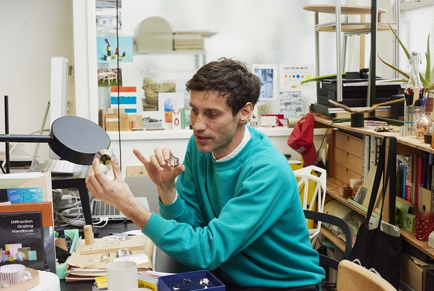 Tomas Alonso examining crystals 2