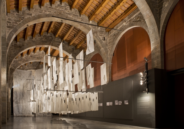montaje museo maritimo de Barcelona de Gyotaku fad arquitectura