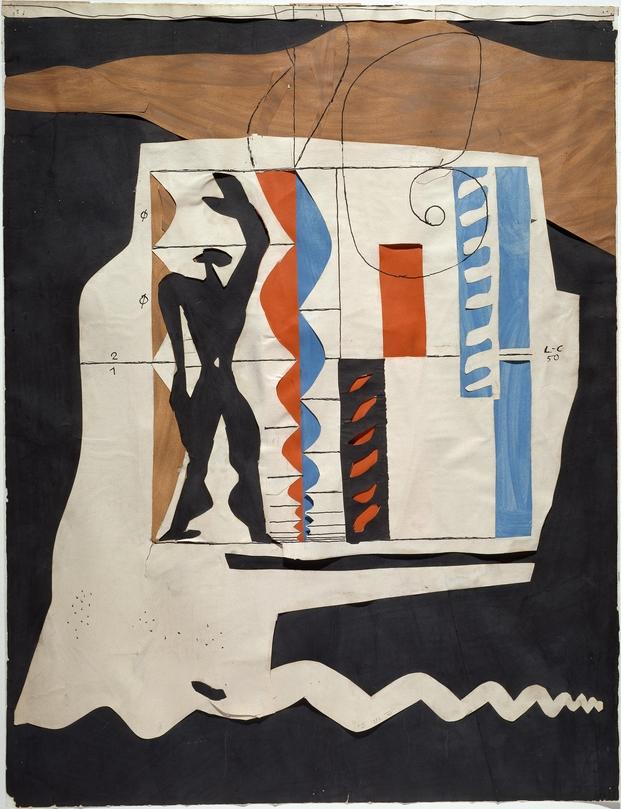 Le Corbusier, Le Modulor, 1950 Collection Centre Pompidou, Musée national d'art moderne © Centre Pompidou / Dist. RMN-GP/ Ph. Migeat  © FLC, ADAGP, Paris 2015