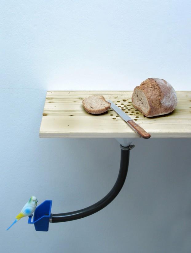 Tabla para cortar pan Migas-pájaros, diseño de Curro Claret