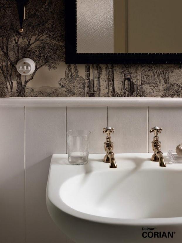 Lavabo dupont Corian Calm modelo Glacier White diariodesign baños
