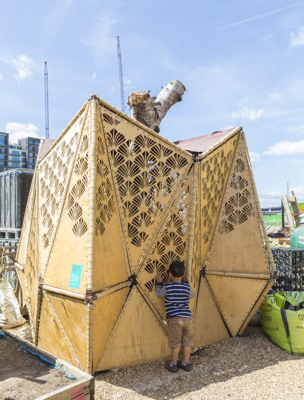 Chicken coop, Family Saturdays at the King's Cross Skip Garden
