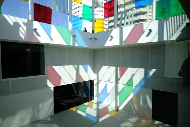interior acristalado Centre pompidou malaga