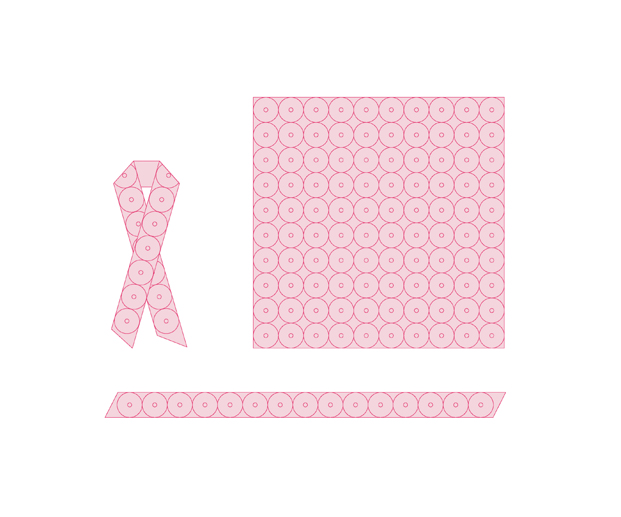 6 rosa bandet