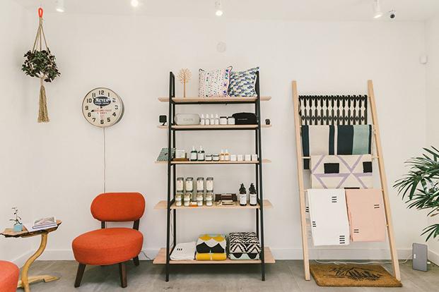 diseño en Concrete + Water la tienda más hipster de NYC