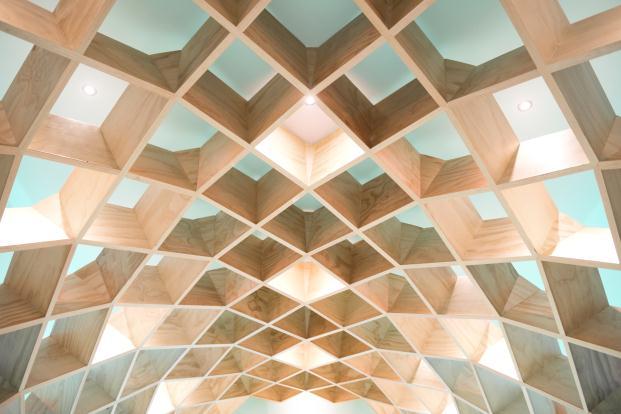 detalle estructura biblioteca conarte en monterrey