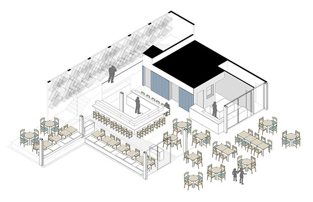 150429 - Restaurant Barceloneta - Axonometría PB.jpg