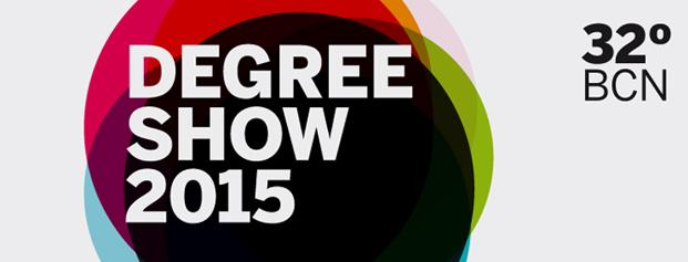 Cartel Degree Show 2105 de la escuela de diseño Elisava