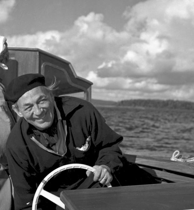 Alvar Aalto en 1960. Foto de Goran Schildt