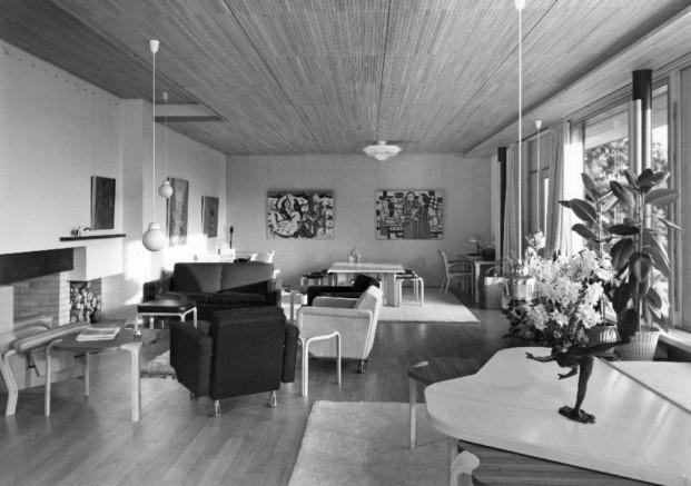 Sala de estar de la Maison Louis Carre