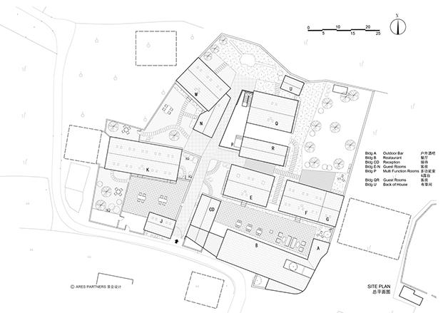 plano hotel Yun House en Shanghay diariodesign