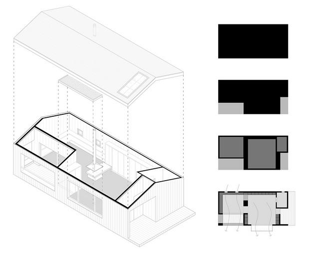 plano Casita de madera de Dom Arquitectura diariodesign