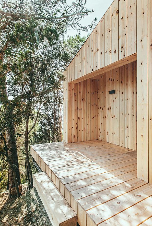 detalle casita de madera de Dom Arquitectura diariodesign