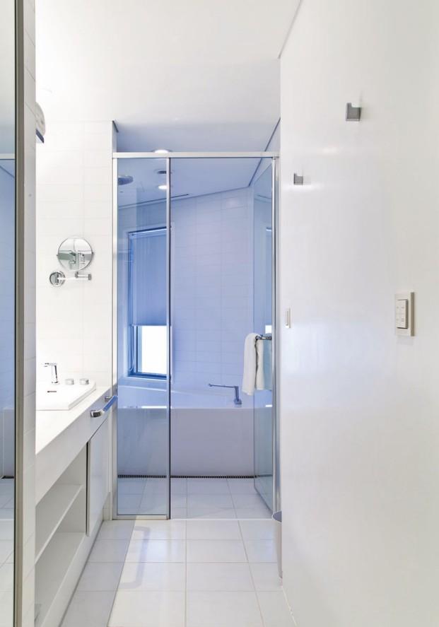 Detalle del baño en el hotel Nest