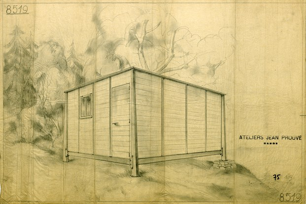 4x4 Demountable House by Jean Prouve at Galerie Patrick Seguin HR