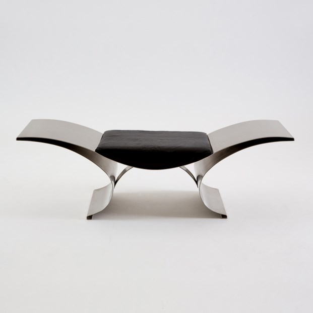 7 Pouf Vague Wave Bench by Maria Pergay at Demisch Danant
