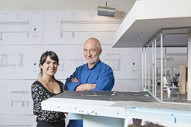 Peter Zumthor, mentor and Gloria Cabral, protégée. Haldenstein, Switzerland, 2014.