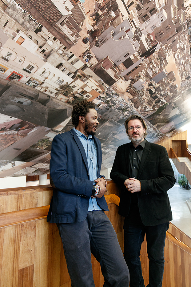 Rolex Arts Weekend at Centro Cultural del Bosque – Mexico, December 5, 2015. Congolese artist and photographer Sammy Baloji created an installation in the lobby of Teatro Julio Castillo. The event was accompanied by a conversation with his mentor Olafur Eliasson.