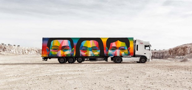 12 truck art project okuda