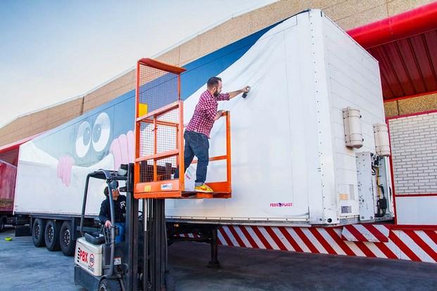 4 truck art project