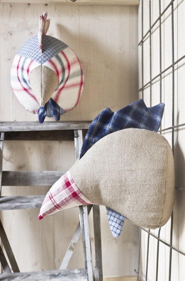 softheads cabezas de animales decorativas textiles diariodesign