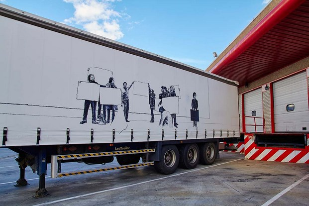 5 truck art project Javier Arce