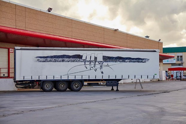6 truck art project Javier Arce
